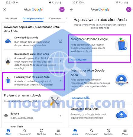 Cara Menghapus Akun Gmail Permanen Di HP Android