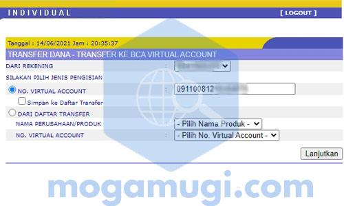 Cara Top Up Saldo LinkAja Lewat Internet Banking BCA