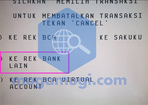 Pilih Rek Bank Lain