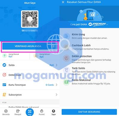 Bagaimana Cara Upgrade DANA Premium User