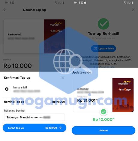 Cara Instant e-Money Top Up di New Livin by Mandiri