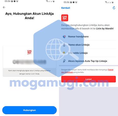 Hubungkan LinkAja New Livin by Mandiri
