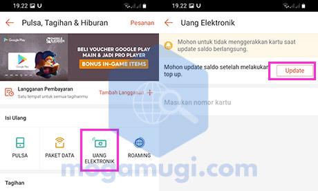 Pilih Uang Elektronik Update